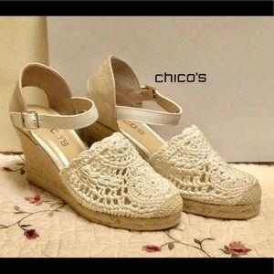 NWT CHICO'S Espadrille Sandals